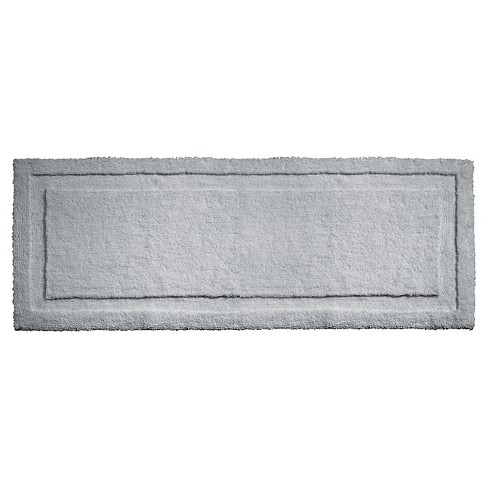 "Spa Solid Bath Rug (60""x21"") Gray - iDESIGN - image 1 of 2"