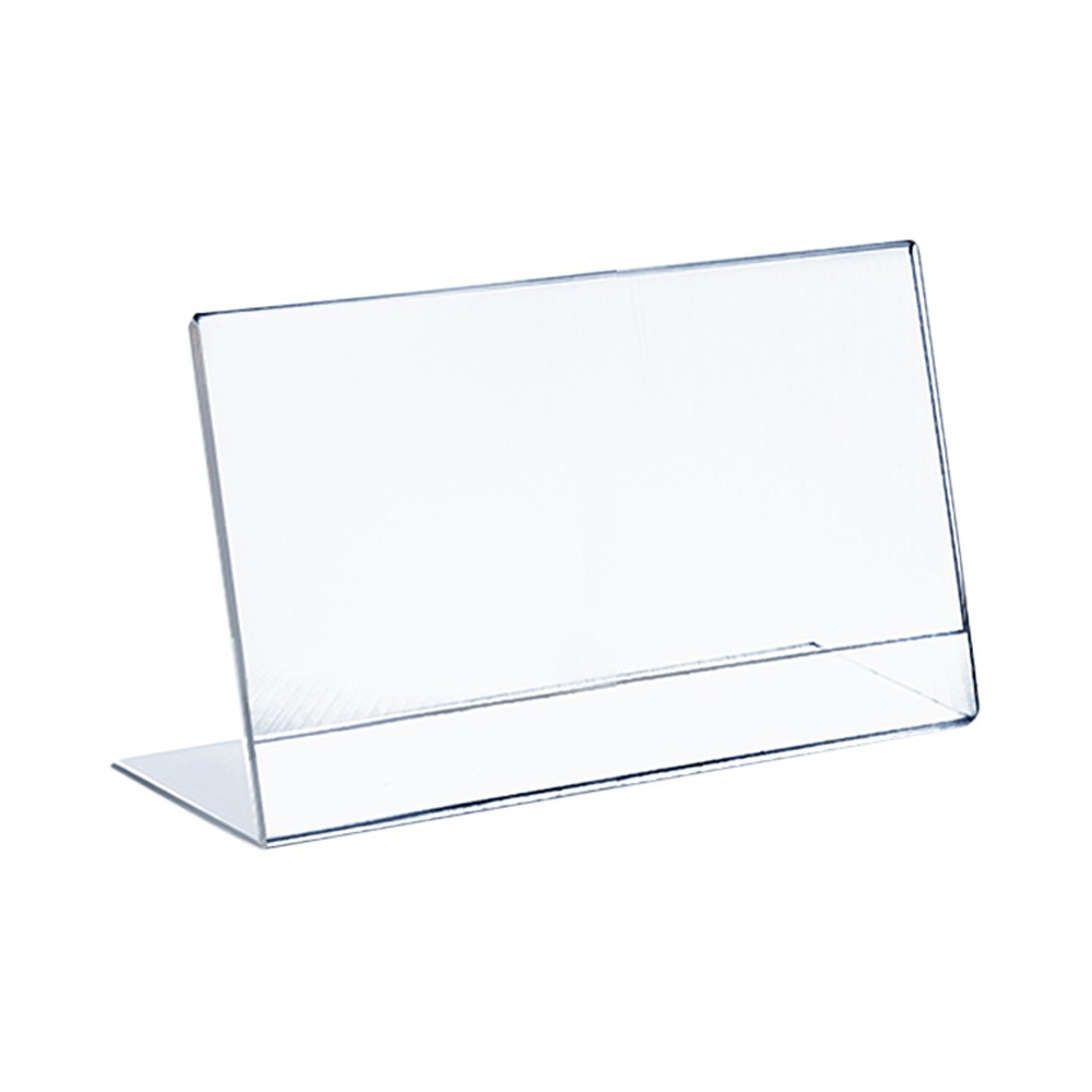 "Image of ""Azar 11"""" x 8.5"""" L-Shaped Acrylic Sign Holder 10ct"""
