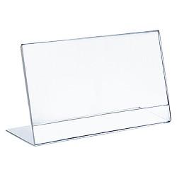 "Azar® 11"" x 8.5"" L-Shaped Acrylic Sign Holder 10ct"