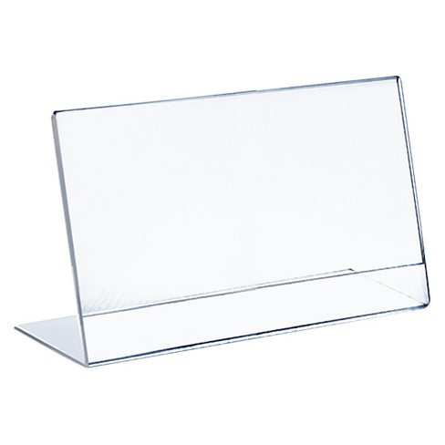 "Azar 11"" x 8.5"" L-Shaped Acrylic Sign Holder 10ct - image 1 of 1"