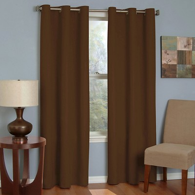 Thermaback Microfiber Grommet Blackout Window Curtain Panel - Eclipse