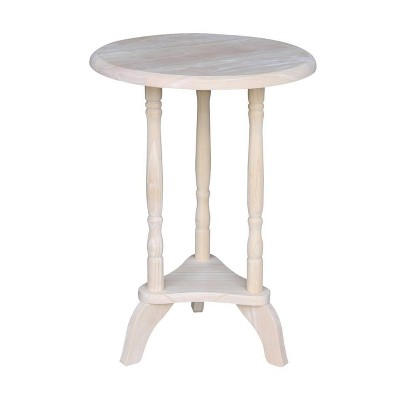 Round Plant Table Unfinished - International Concepts