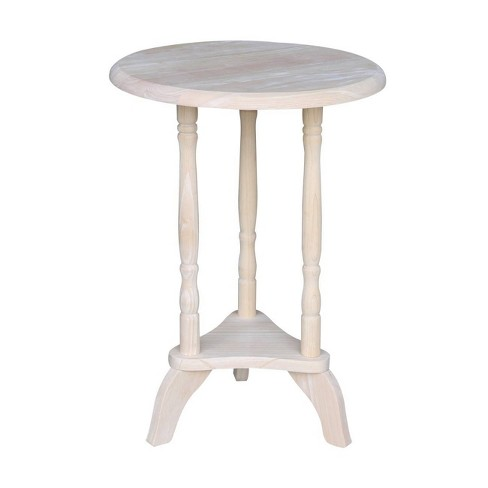 Round Plant Table Unfinished - International Concepts - image 1 of 4