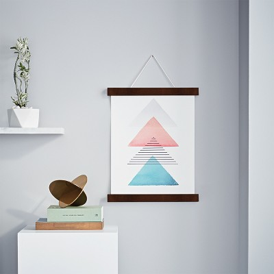 Small Hanging Bar Single Picture Frame Walnut - Project 62™