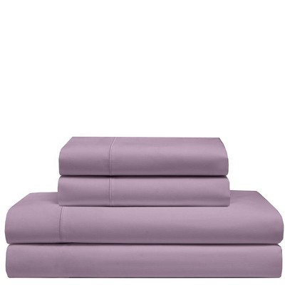 King 525 Thread Count Solid Cooling Cotton Sheet Set Smokey Plum - Elite Home Products