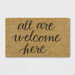 "1'6""X2'6"" All Are Welcome Here Tufted Doormat Beige - Threshold™"