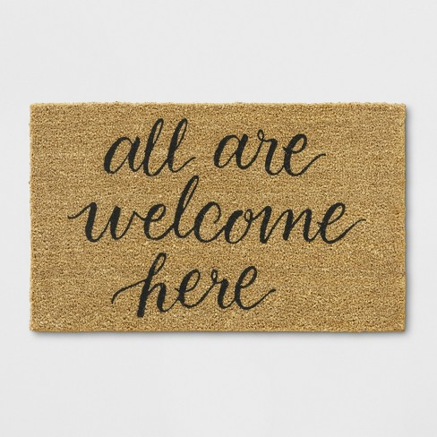 "1'6""X2'6"" All Are Welcome Here Tufted Doormat Beige - Threshold™ - image 1 of 3"