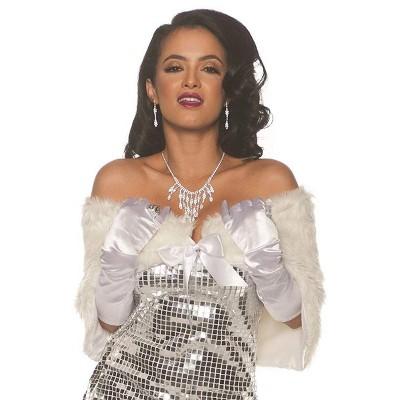 Underwraps Faux Fur Adult Costume Wrap - White - OS