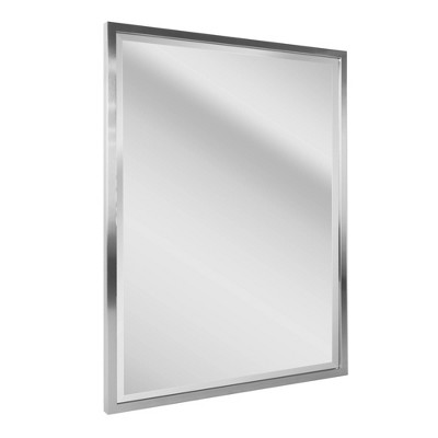 "30"" x 40"" Classic Brushed Metal Frame Wall Mirror Nickel - Head West"