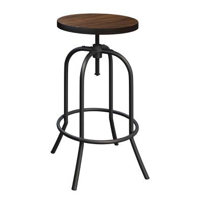 Hastings Home Adjustable-Height Backless Swivel Bar Stool