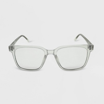 Women's Matte Square Blue Light Filtering Glasses - Wild Fable™ Clear