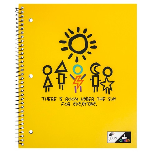 "Yoobi™ x i am OTHER Spiral Notebook, College Ruled, 1 Subject, 100 Sheets, 8.5"" x 11"" - Yellow - image 1 of 2"