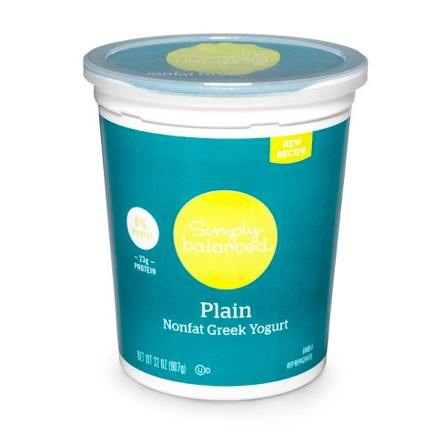 Nonfat Plain Greek Yogurt - 32oz - Simply Balanced™ - image 1 of 1