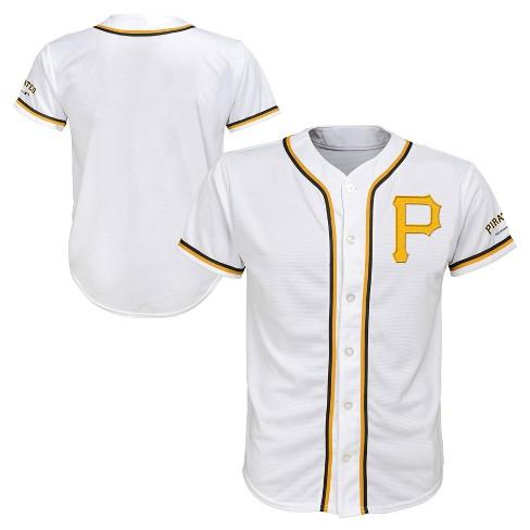 MLB Pittsburgh Pirates Boys' White Team Jersey - image 1 of 3