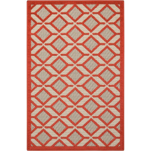 Nourison Aloha ALH03 Red Indoor/Outdoor Area Rug - image 1 of 4