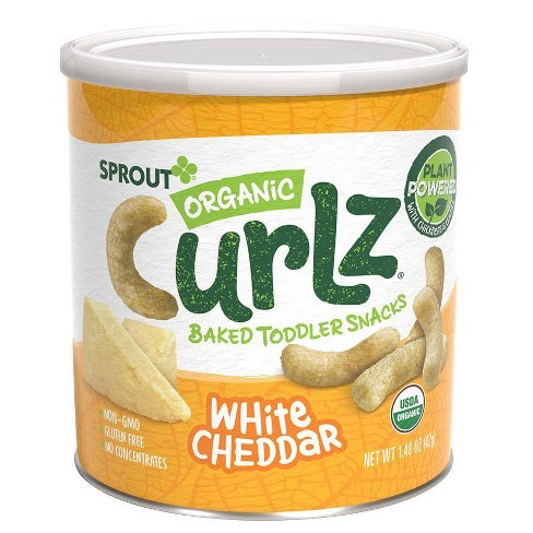 Sprout Foods Organic White Cheddar Curlz Toddler Snacks - 1.48oz - image 1 of 4