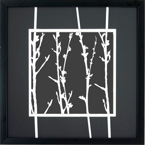 White Branches A Wall Art - 16x16\