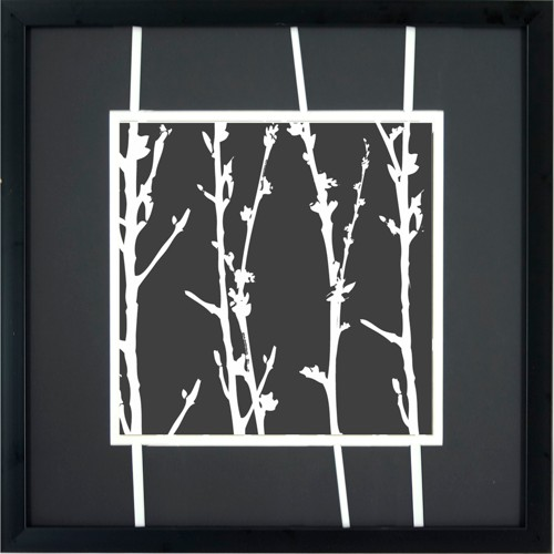 'White Branches A Wall Art - 16x16'''