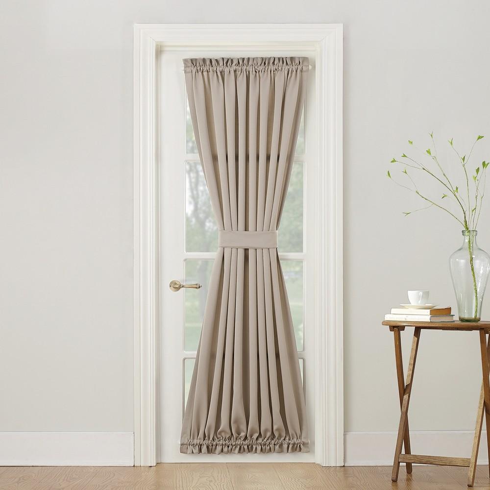 Seymour Energy Efficient Door Curtain Panel Stone (Grey) 54