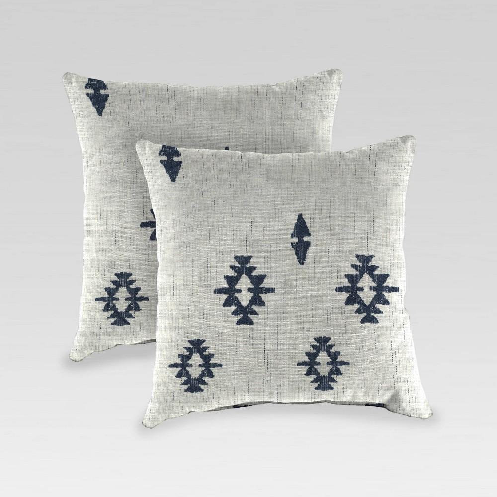 2pk Outdoor Throw Pillow Indigo Jordan Manufacturing