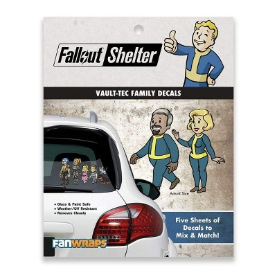 Fanwraps Fallout Shelter Vault-Tec Family Decals - 5 Sheets