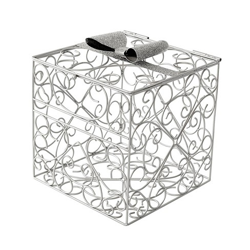 Bow Reception Gift Card Holder Silver - image 1 of 5