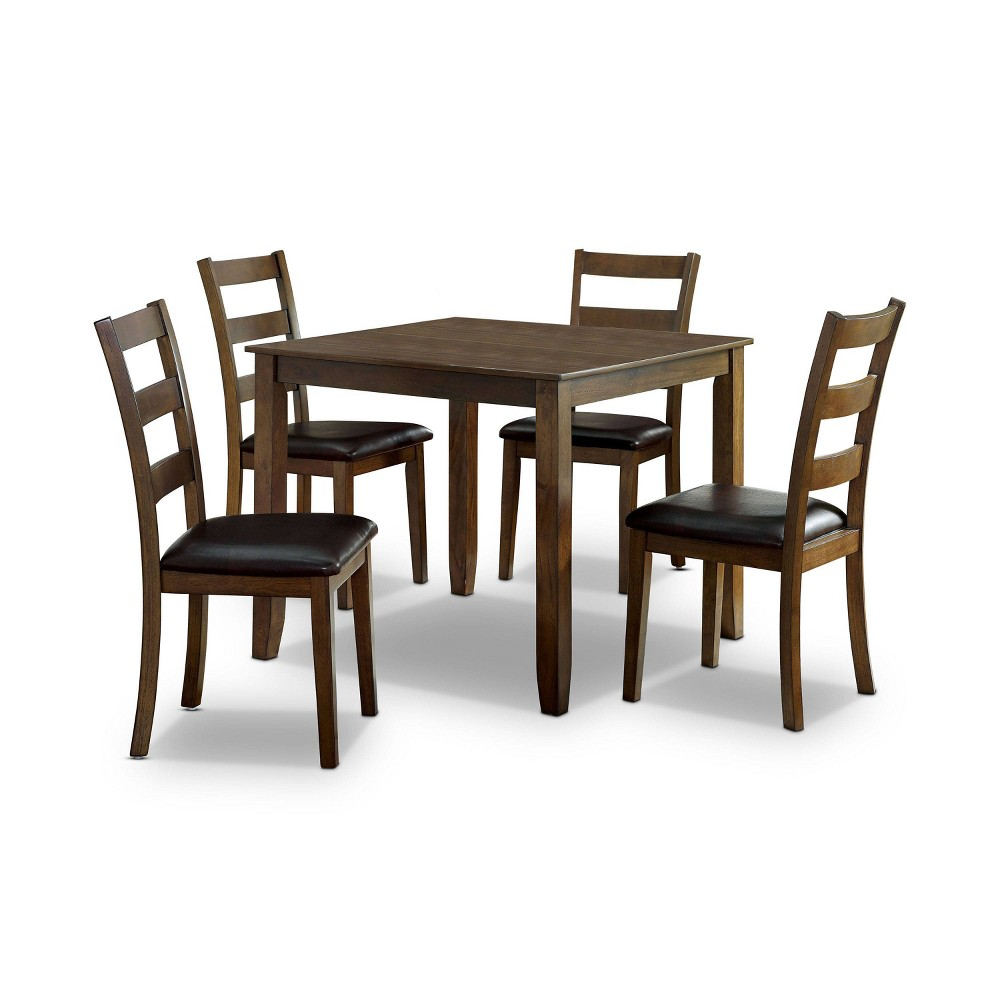 Best 5pc Chesterton Padded Seat Dining Table Set Dark Brown - HOMES: Inside + Out