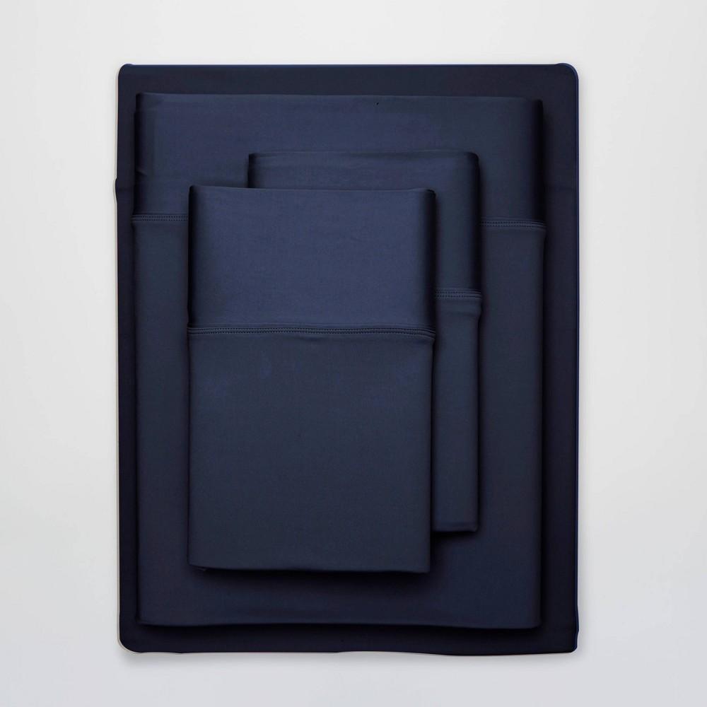 Image of Full Ultra Air Solid Sheet Set Navy - SHEEX
