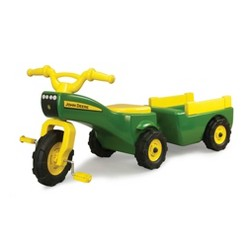 John Deere Trike & Wagon Set - Green
