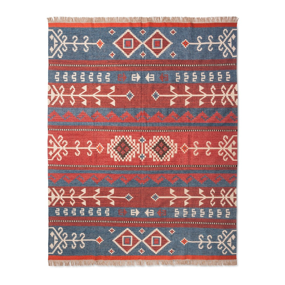 Woven Area Rug Orange