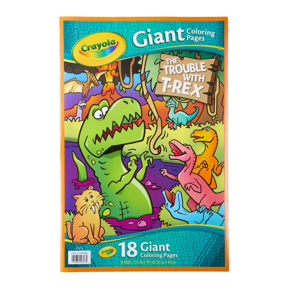 Image of Crayola 18pg The Trouble with T-REX Giant Coloring Book