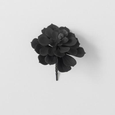 """Sullivans Artificial Succulent Pick 7""""H Black"""