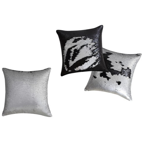 VCNY Home Sequin Mermaid Decorative Pillow - Silver Mermaid Pillow - 16 x 16 - image 1 of 1