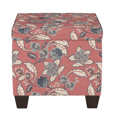 Storage Ottomans Faded Red Floral - Threshold™