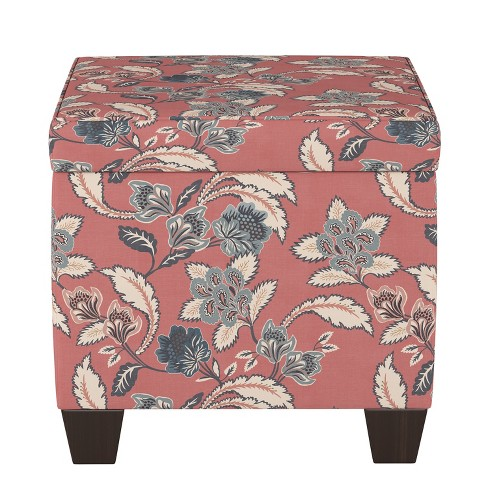Storage Ottomans Faded Red Floral - Threshold™ - image 1 of 4