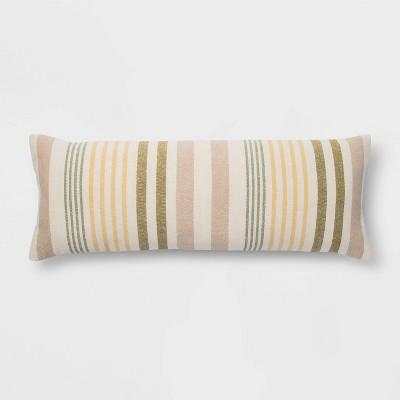 Oblong Oversized Woven Stripe Decorative Throw Pillow - Threshold™