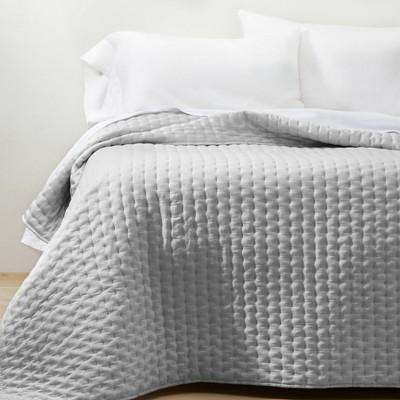 Full/Queen Cashmere Blend Quilt Light Gray - Casaluna™