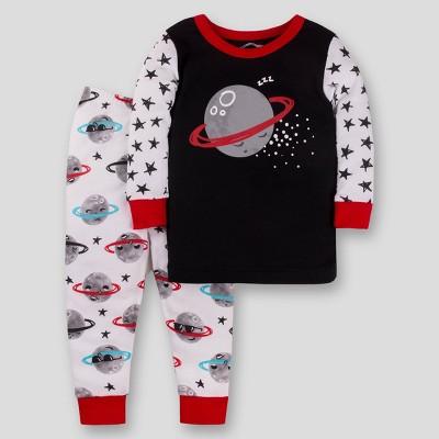 Lamaze Baby Organic Cotton Moon & Stars Pajama Set - Black/White