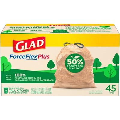 Glad ForceFlexPlus Recovered Plastic Trash Bag - 13 Gallon - 45ct