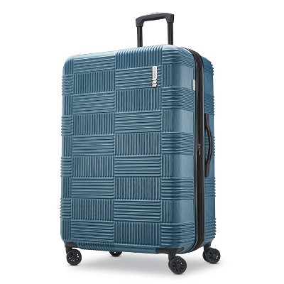 American Tourister 28  Checkered Hardside Suitcase - Teal