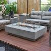 Hampton Rectangular Concrete Propane Fire Table - Silver Gray - Elementi - image 2 of 2