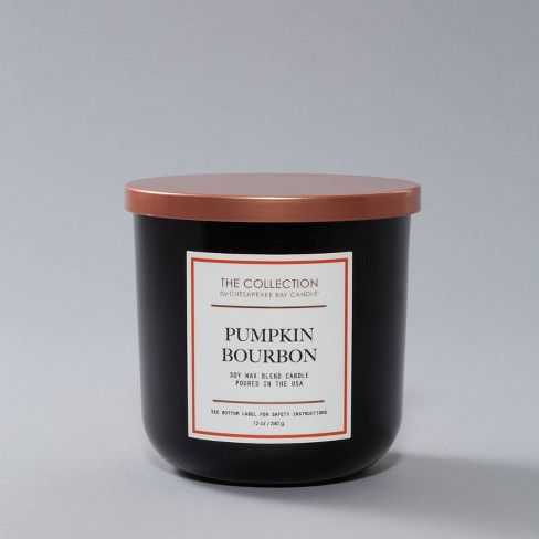 12oz Lidded Core Glass Jar 2-Wick Pumpkin Bourbon Candle - The Collection By Chesapeake Bay Candle - image 1 of 2