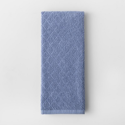 Solid Diamond Weave Kitchen Towel Blue - Made By Design™