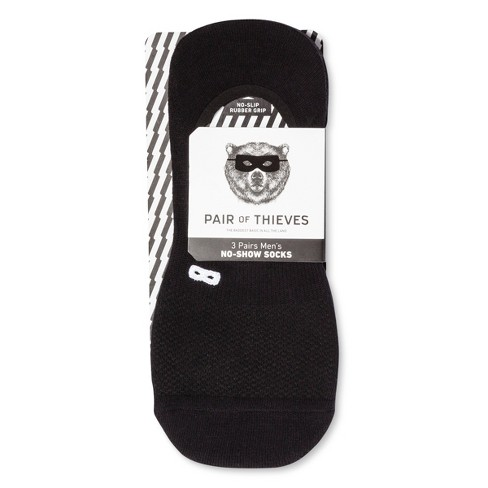 2525b945aef8c Men's Pair Of Thieves Liner Socks 3pk - Black 8-12 : Target