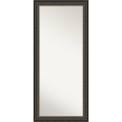 Thomas Bronze Framed Full Length Floor Leaner Mirror Black - Amanti Art