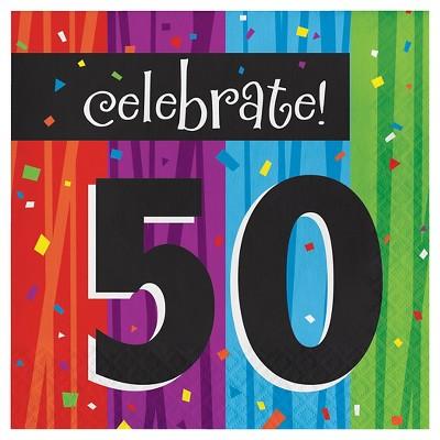 16ct Milestone Celebrations 50th Birthday Napkins