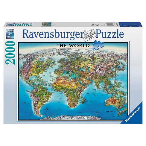 Ravensburger World Map Puzzle - 2000pc : Target