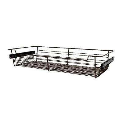 """Rev-A-Shelf Sidelines CBSL-301405BZ-3 30"""" Bronze Wire Pullout Storage Basket Bin Organizer for 14"""" Deep Kitchen, Bathroom, or Closet Cabinet (3 Pack)"""