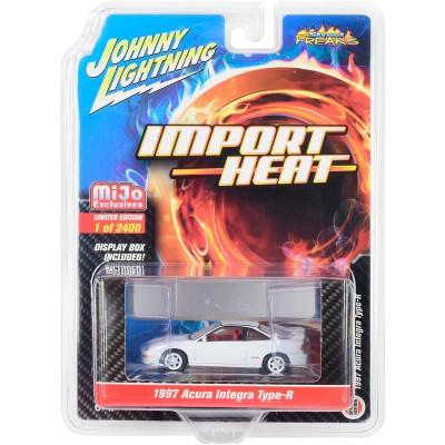 "1997 Acura Integra Type R White w/Red Interior ""Import Heat"" Ltd Ed 2400 pcs 1/64 Diecast Model Car by Johnny Lightning"