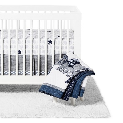 Lambs & Ivy 3pc Indigo Crib Bedding Set - Blue